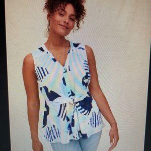 TORRID NWT cutout geometric peplum blouse size 1x